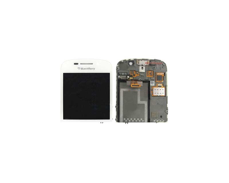 Blackberry Q10 LCD and Digitizer with Frame White
